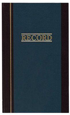 Wilson Jones S300 Record Book - 150 Sheets - 11.75 X 7.25 Sheet Size - White