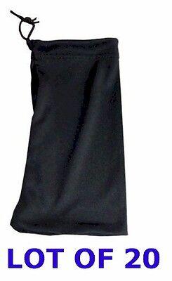 Lot 20 Carrying Case Pouch Medium Small Digital Camera Black Extra Soft Bag