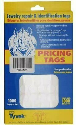 Jeweller Repair Price And Identification Tags 12mm 1000pcs