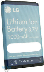 NEW LG OEM LGIP-A1000E BATTERY 3.7V 1000MAH LITHIUM ION