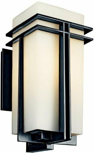 Kichler Energy Efficient Tremillo Black LED Outdoor Wall Lan