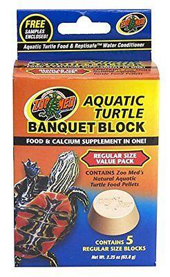 (Zoo Med™ Aquatic Turtle Banquet Block Regular Size Value Pack 5 per pack )