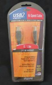 BRAND NEW FACTORY SEALED BELKIN USB2 HI-SPEED CABLE FOR PC & MAC