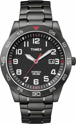 Timex TW2P61600, Men's Black Expansion Band Watch, Date, Indiglo