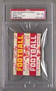 Unopened Football Wax Packs