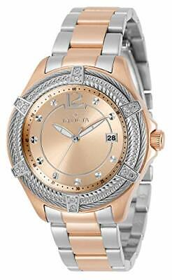 Invicta Women's 30885 Bolt Quartz 3 Hand Rose Gold Dial Watch