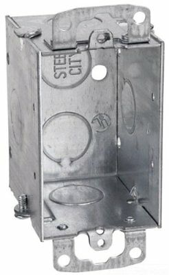 Thomas Betts Electrical Outlet 1 Gang Switch Box 3 X 2 X 2-12 Steel City
