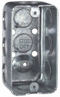 Steel City 58361-12 Handyutility Outlet Box Drawn Construction 4-inch Length