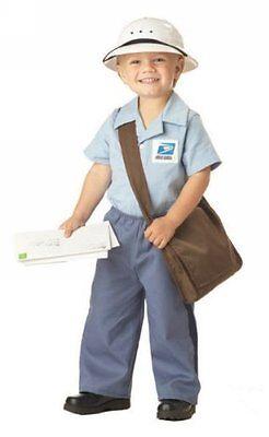 Toddler Mailman Costume (California Costumes US Mail Carrier Mr Postman Toddler Halloween Costume)