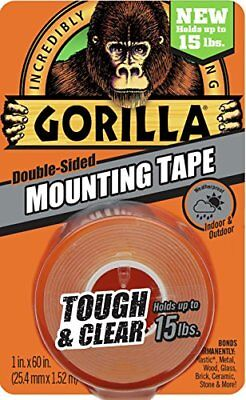 Gorilla Tough Clear Mounting Tape Double-sided 1 X 60 Clear