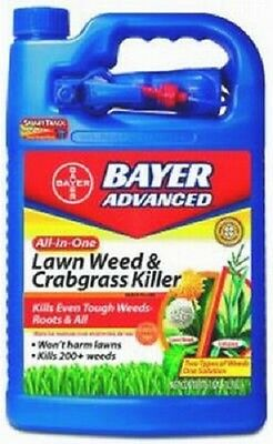 (1) BAYER 1 GAL READY TO USE ALL IN ONE LAWN WEED & CRABGRASS KILLER - 704130A Bayer All In One Weed Killer