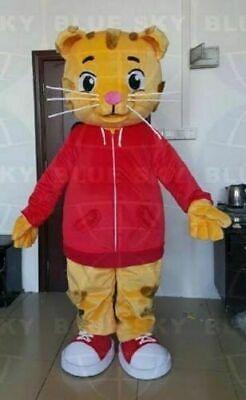 Daniel tiger red jacket cartoon character mascot costume makeup adult