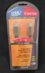 BRAND NEW FACTORY SEALED BELKIN USB2 HI-SPEED CABLE FOR PC MAC