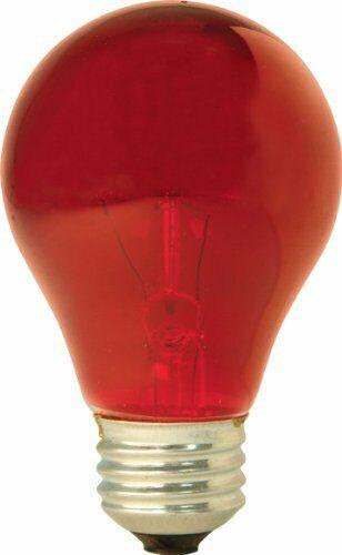 GE Lighting 16555 25-Watt Light Bulb, Red