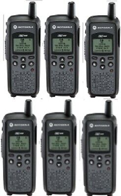 Motorola Dtr410 900 Mhz Ism Digital On-site Business Two-way Radios Lot Of 6