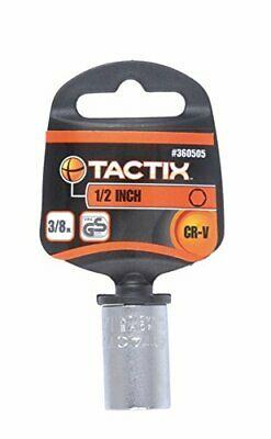 Tactix 360505 6 Point Socket with 3/8-Inch Drive, 1/2-Inch, Black/Orange