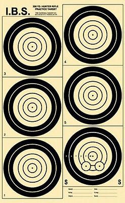 (12) IBS200HR 200 Yard Hunter Rifle Target, Black on Heavy Paper, 13