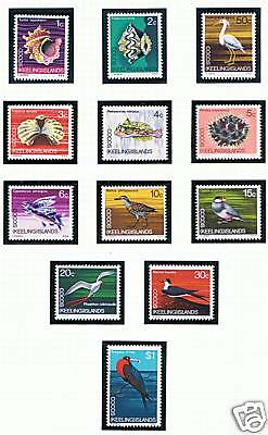 Cocos (Keeling) Is 1969 Decimal Currency SG 8/19 MNH