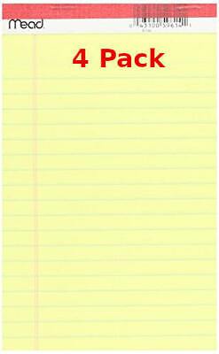 Mead 50 Ct 5 X 8 Yellow Legal Note Pad Total 200 Sheets