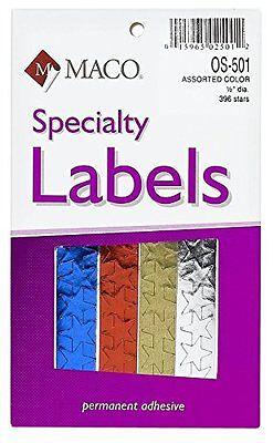 Maco Assorted Color Foil Stars 12 Inches In Diameter 396 Per Box Os-501