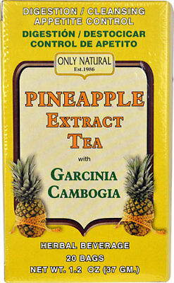 Only Natural Pineapple Extract Tea with Garcinia Cambogia -- 20 Tea Bags