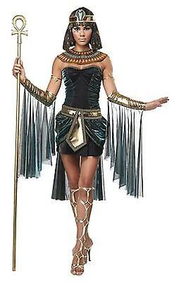 Adult Womens Egyptian Goddess Ancient Pyramid Cleopatra Halloween Costume 01271