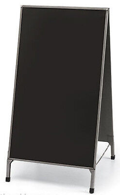 A-frame Raw Steel Finish Double Sided Magnetic Chalkboard Sidewalk Sign W Erase