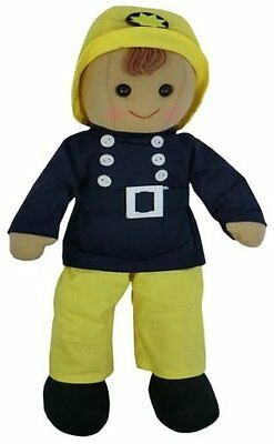 Powell Craft Rag Doll - Fireman - Retro Gift idea for Boys and Girls Birthday - Rag Dolls For Boys