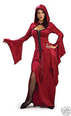 CRIMSON VAMPIRA SEXY GOTHIC HORROR WOMEN'S HALLOWEEN COSTUME SIZE STANDARD - Horror Gothic Costumes