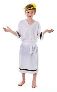 Childrens Ancient Greek God Caesar Fancy Dress Costume Boys Outfit 7-10 Yrs