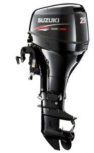 25 hp suzuki 4 stroke df25el outboard motor new ebay for Suzuki 2 5 hp 4 stroke outboard motor