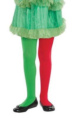 Childrens Elf Tights (Amscan Fun-Filled Christmas & Holiday Party Elf Tights Green/Red Child)