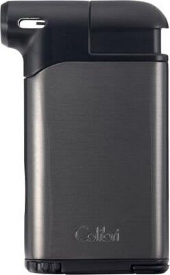 COLIBRI PACIFIC AIR II ANGLED FLAME PIPE LIGHTER / GUNMETAL