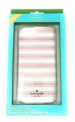 Kate Spade Clear Protective Case for iPhone 8 Plus, 7 Plus,6 Plus, Pink Glitter