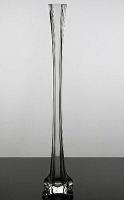 """Clear Glass Tower Vase Eiffel Tower Vases 20"""" Tall Centerpiece (Lot of 12 pcs)"""