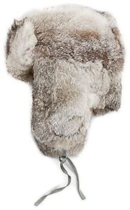 Crown cap men's rabbit fur hat