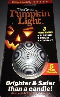 Halloween The Great Pumpkin 3 Function Light! Flashing Strobe or Constant - Halloween 3 Flashing Pumpkin