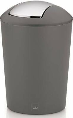 kela Cosmetic bin Marta of Plastic 5L in grey, 19.5 x 19.5 x 29 cm