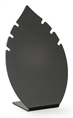 Black Acrylic 8.5 Leaf Shaped Jewelry Display For Necklaces