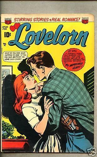 Lovelorn #34-1953 vg+/vg ACG Romance title / 5 stories