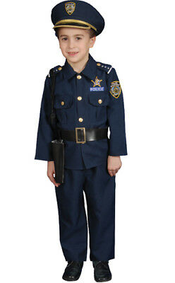 Boys Deluxe Police Officer Set Halloween Costume](Police Costumes For Boys)