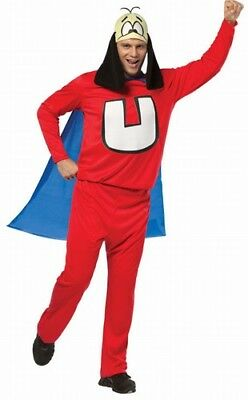 Mens Adult Funny Deluxe Underdog Dog Animal Super Hero Costume Outfit One Size - Funny Superheroes Costumes