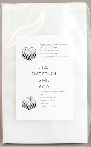 125ct Commercial Flat Chamber Bag Sous Vide Vacuum Sealing VacMaster 5 Mil 6x9