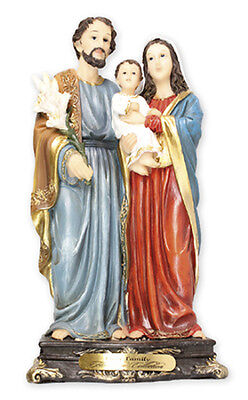 HOLY FAMILY MARY JOSEPH JESUS 130mm STATUE - CANDLES & PICTURES ALSO LISTED 934