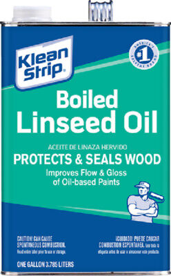 Klean Strip Marine Boiled Linseed Oil Classic Wood Finish & Protectant 1 Gallon