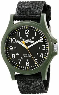 """Timex TW4999800, Men's """"Expedition Camper"""" Black Nylon Watch, Date, Indiglo"""