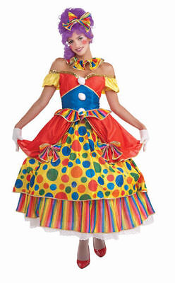 Adult Belle Of the Big Top Female Circus Clown Costume Dress - Fast Ship - - Big Top Costumes