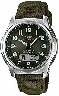 Casio WVAM630B-3A  Solar Atomic Waveceptor Watch, Green Nylon,Chronograph