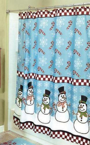 Snowman Shower Curtain Ebay