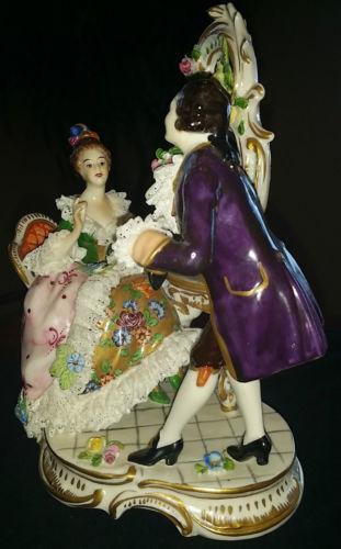 Antique Porcelain Figurine Lace Ebay